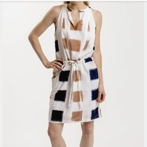 Anthropologie The Odells Cotton Ikat Dress